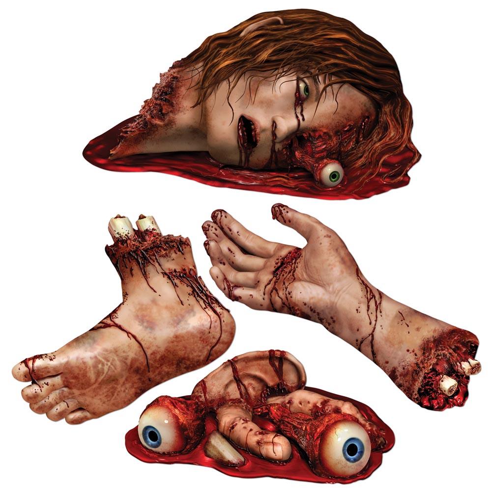 Gory Body Part Cutouts