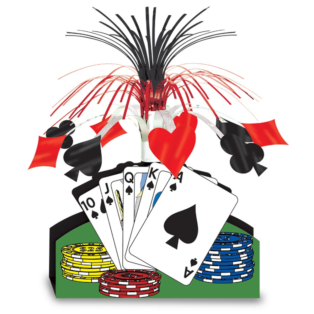 Poker Night Centerpiece 014-50035