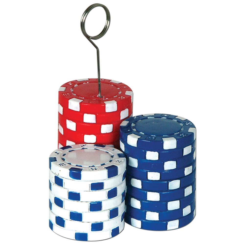Poker Chips Photo Holder Weight