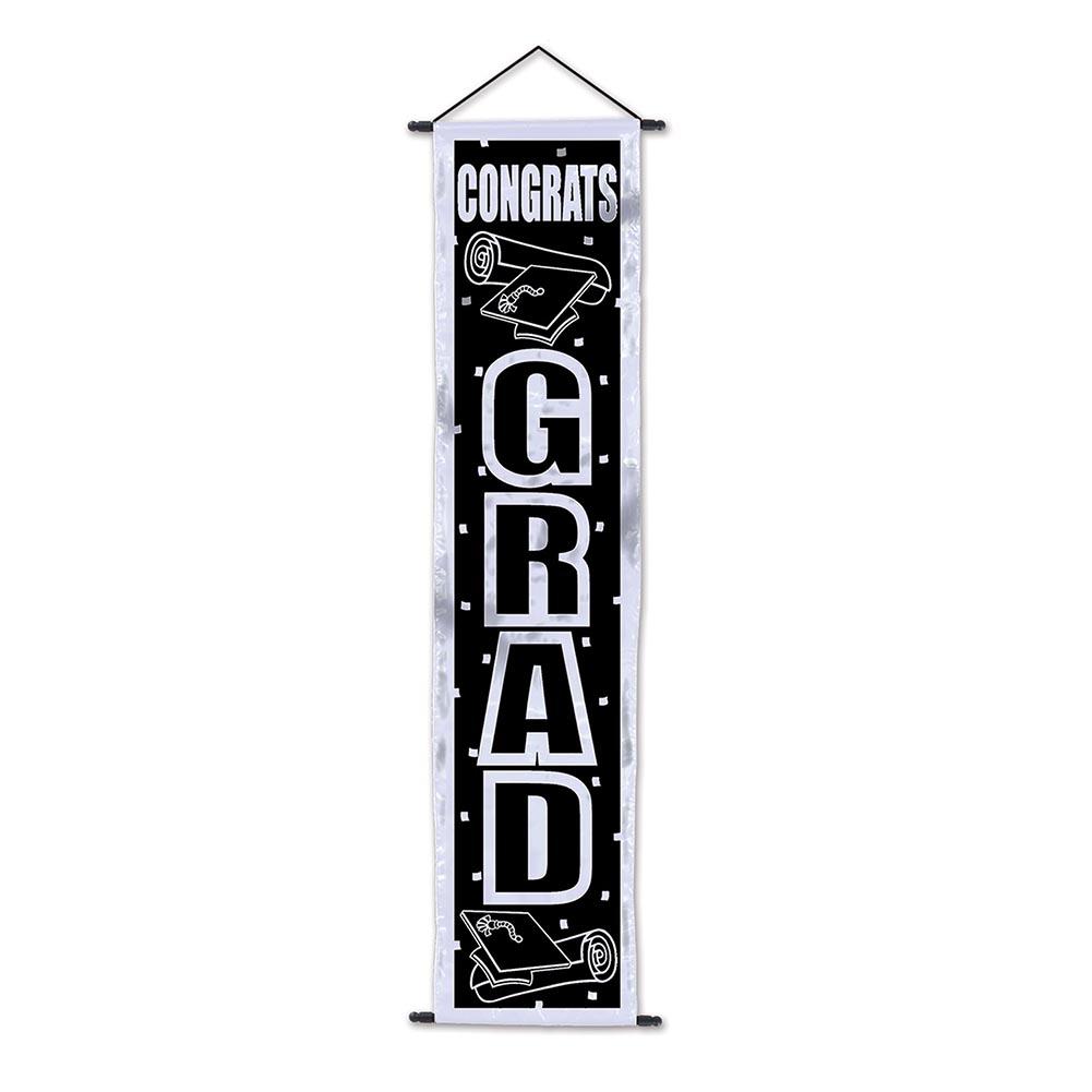 Congrats Grad Door Banner 014-50260-BKS