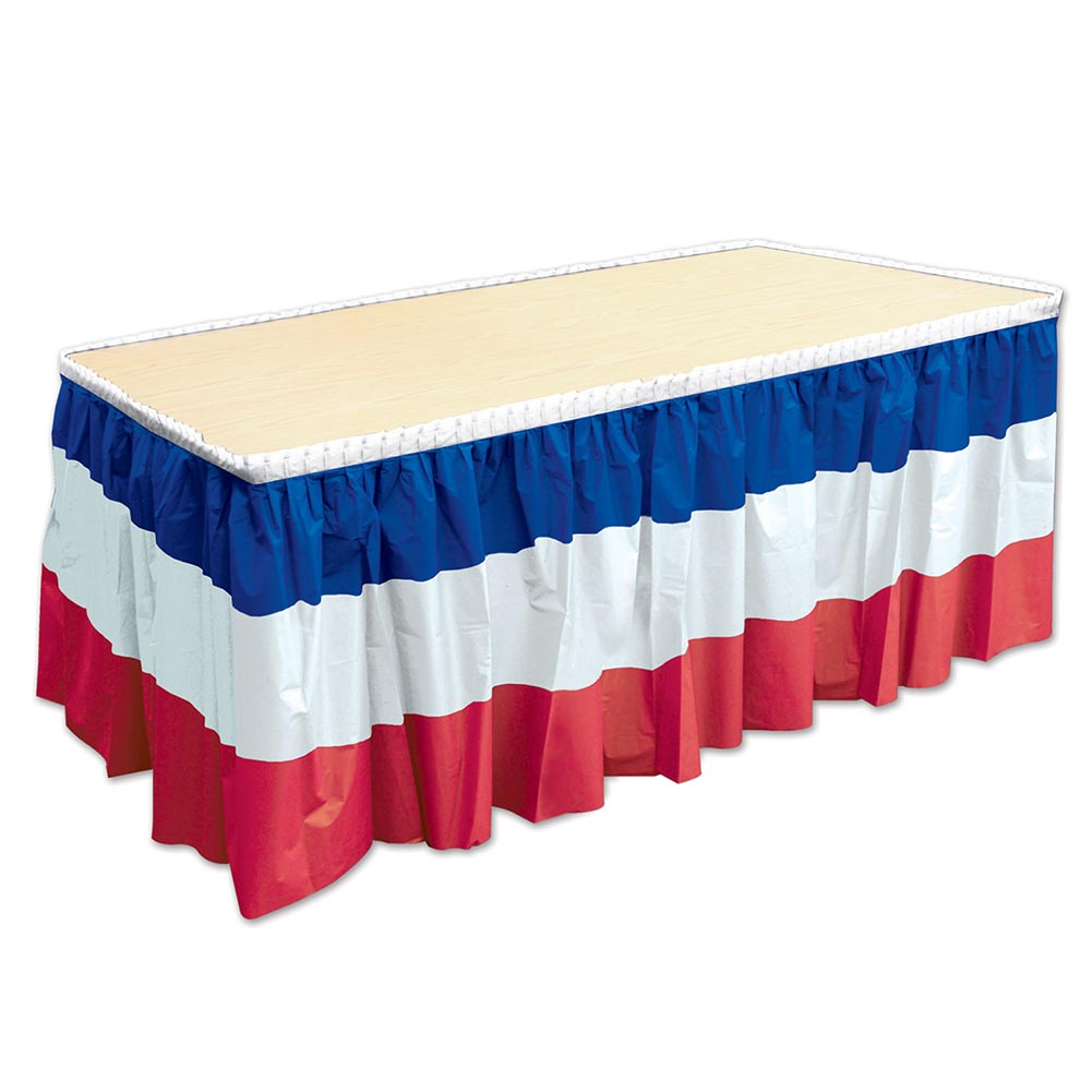 Patriotic Table Skirt