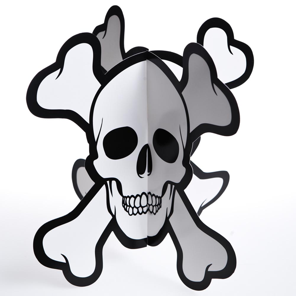 3-D Pirate Skull and Crossbones Centerpiece