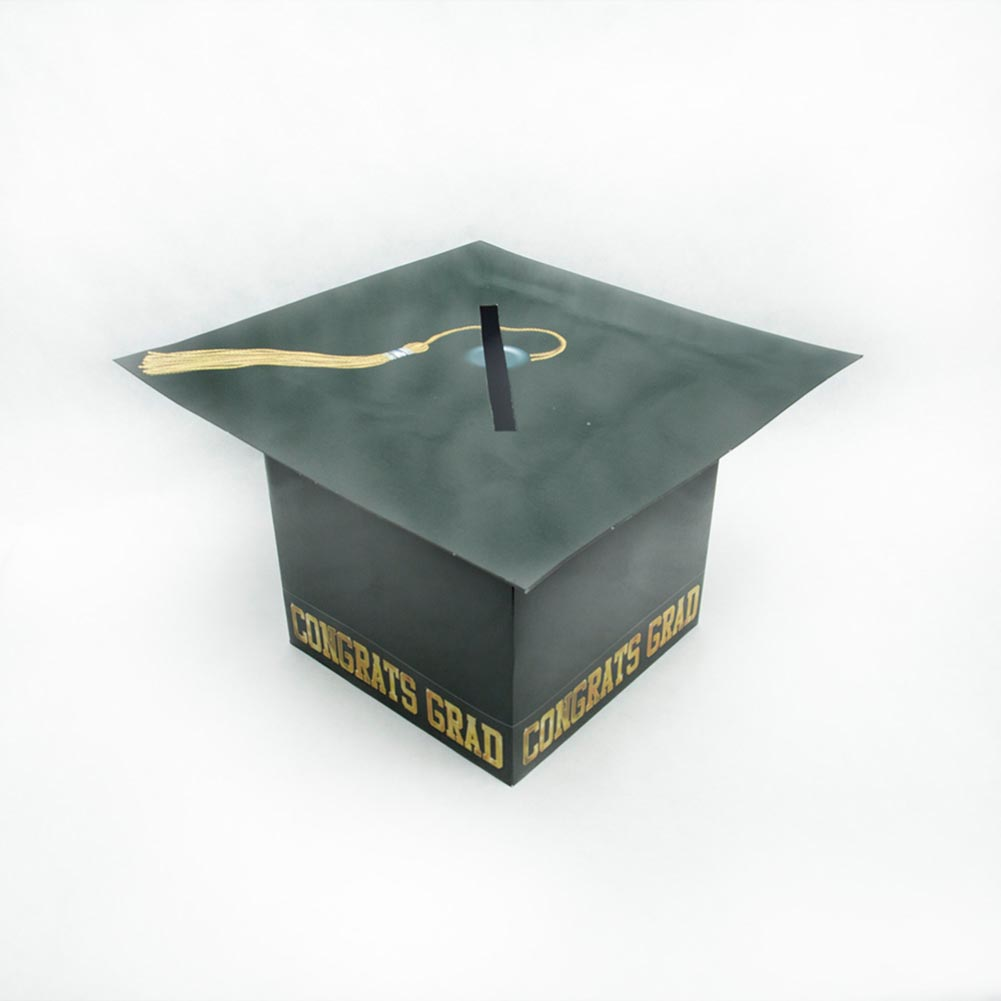 Black Graduation Cap Card Box 014-57393
