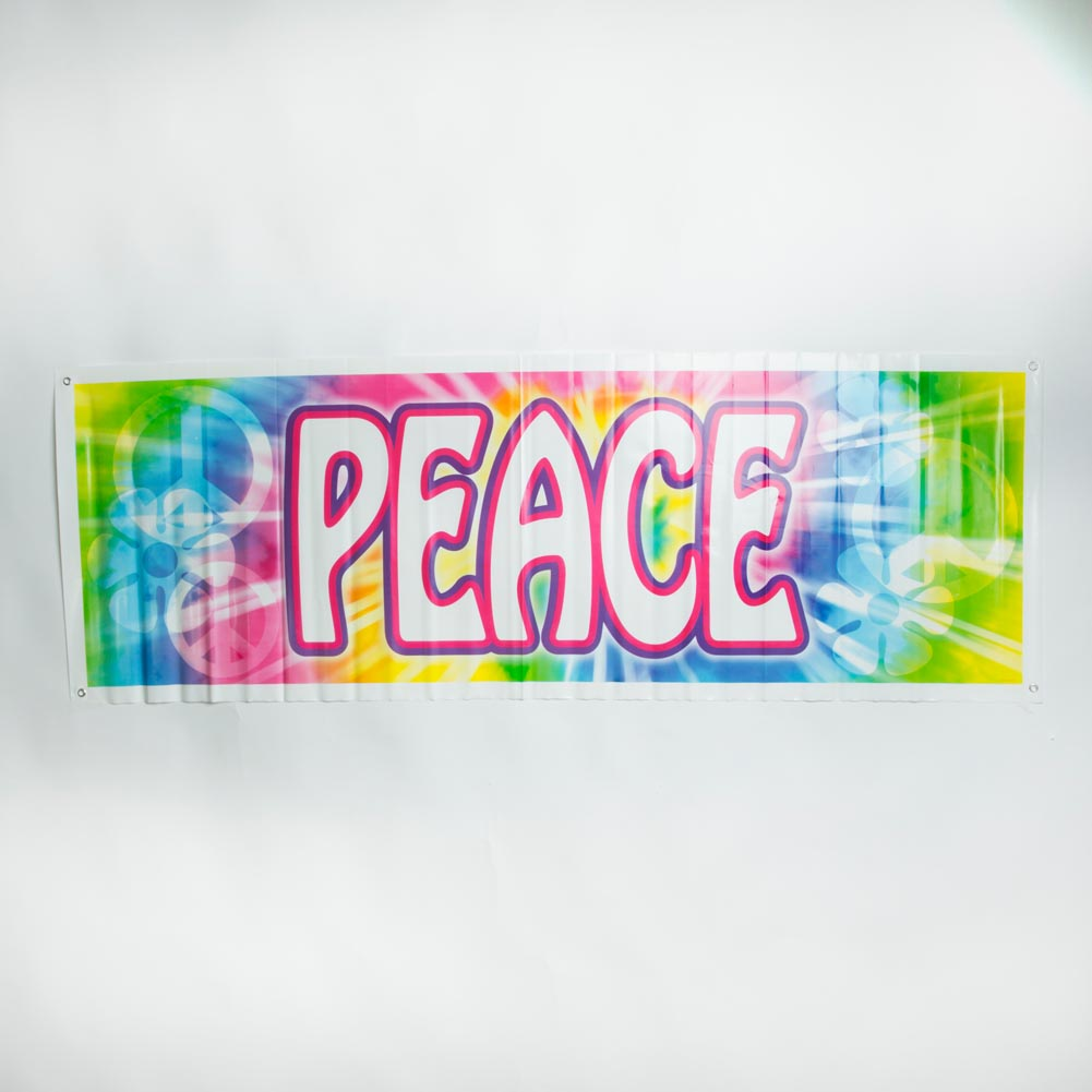 Tie Dye Peace Sign Banner 014-57664