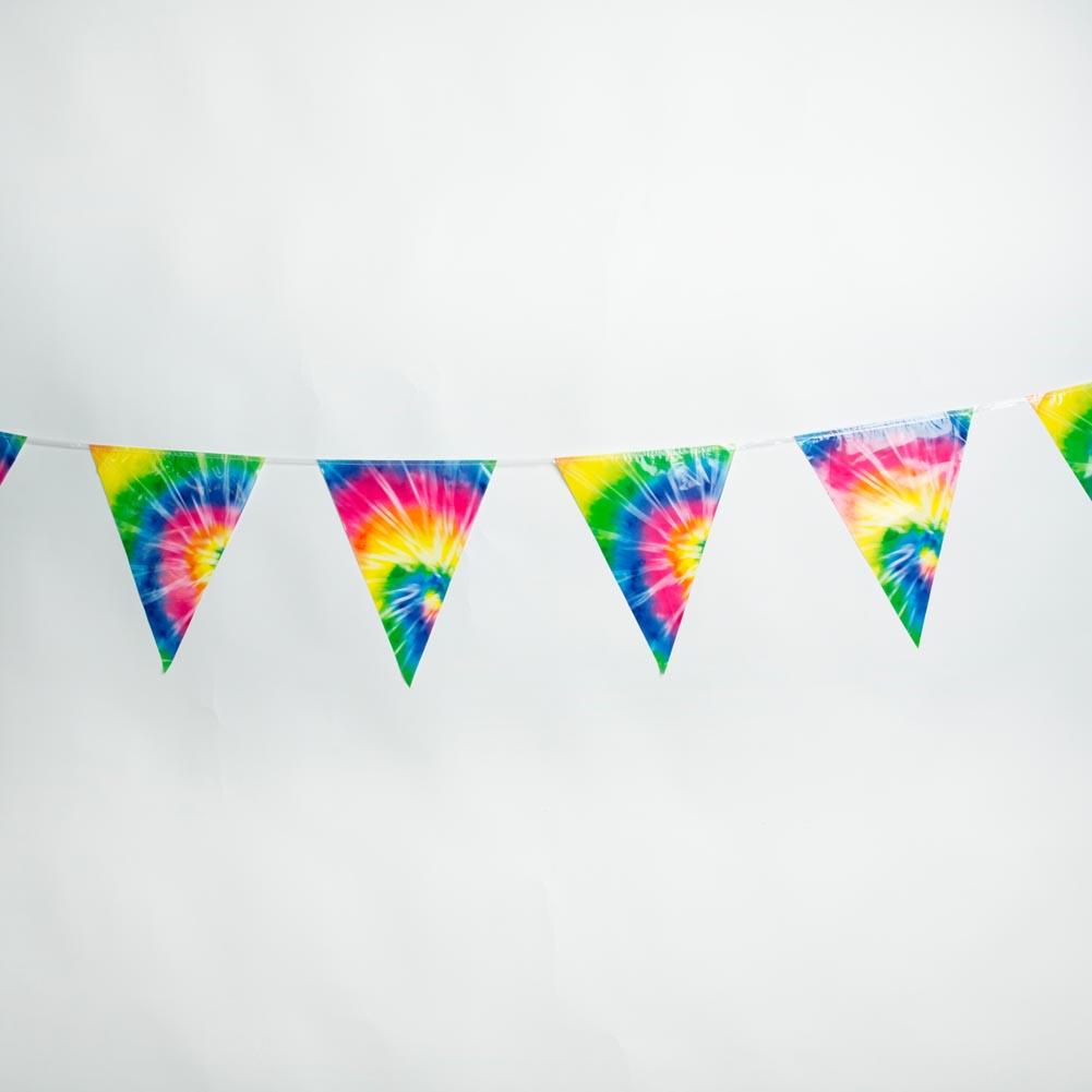 Tie Dye Pennant Banner 014-57740
