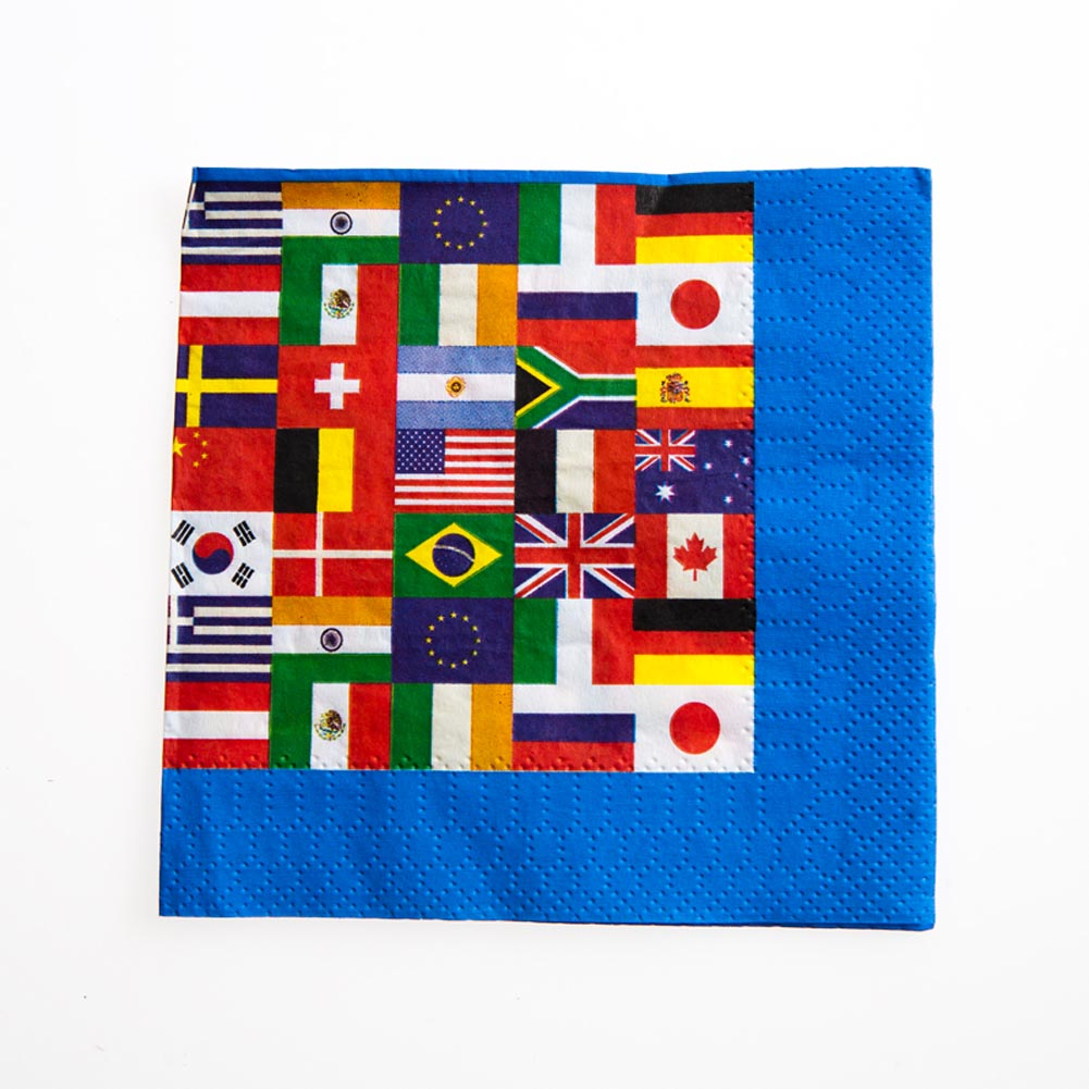 International Flags Beverage Napkins 014-58172