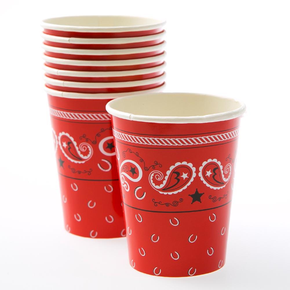 Bandana 9 oz. Cups 014-58209