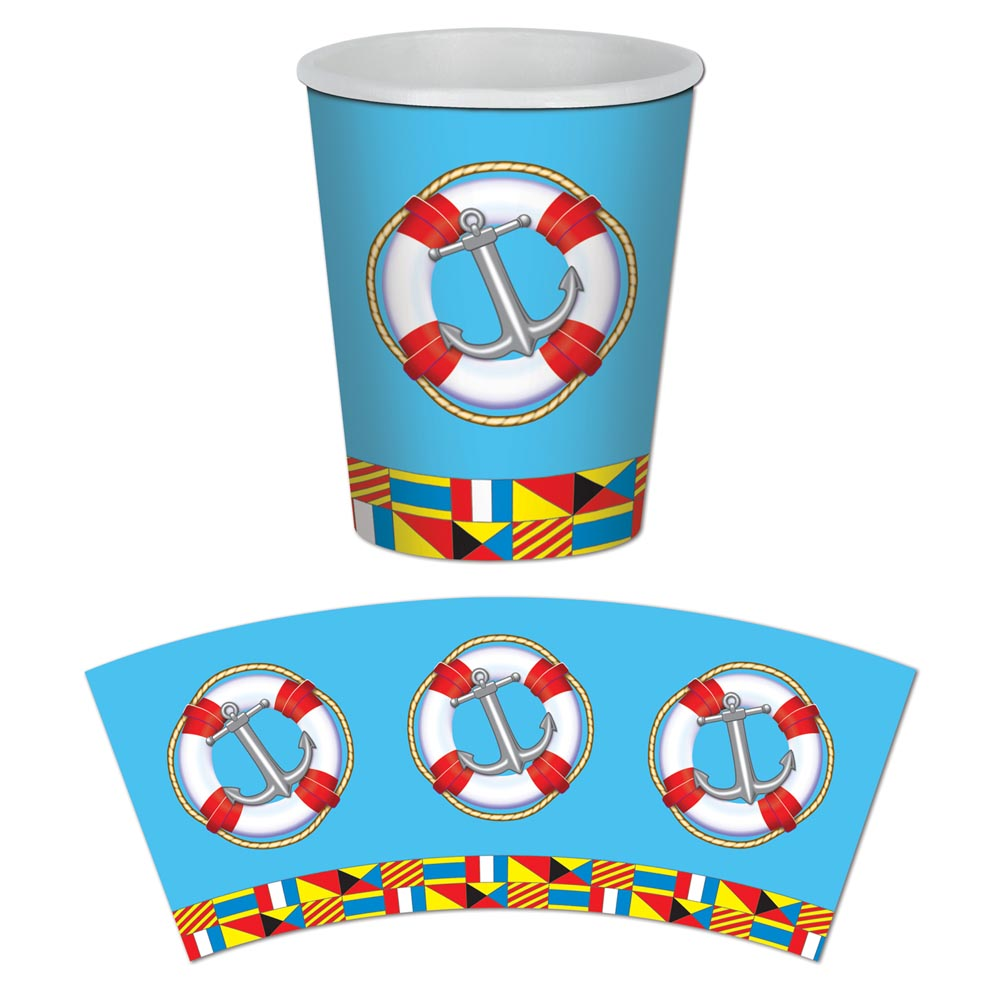 Nautical 9 oz. Cups 014-58211