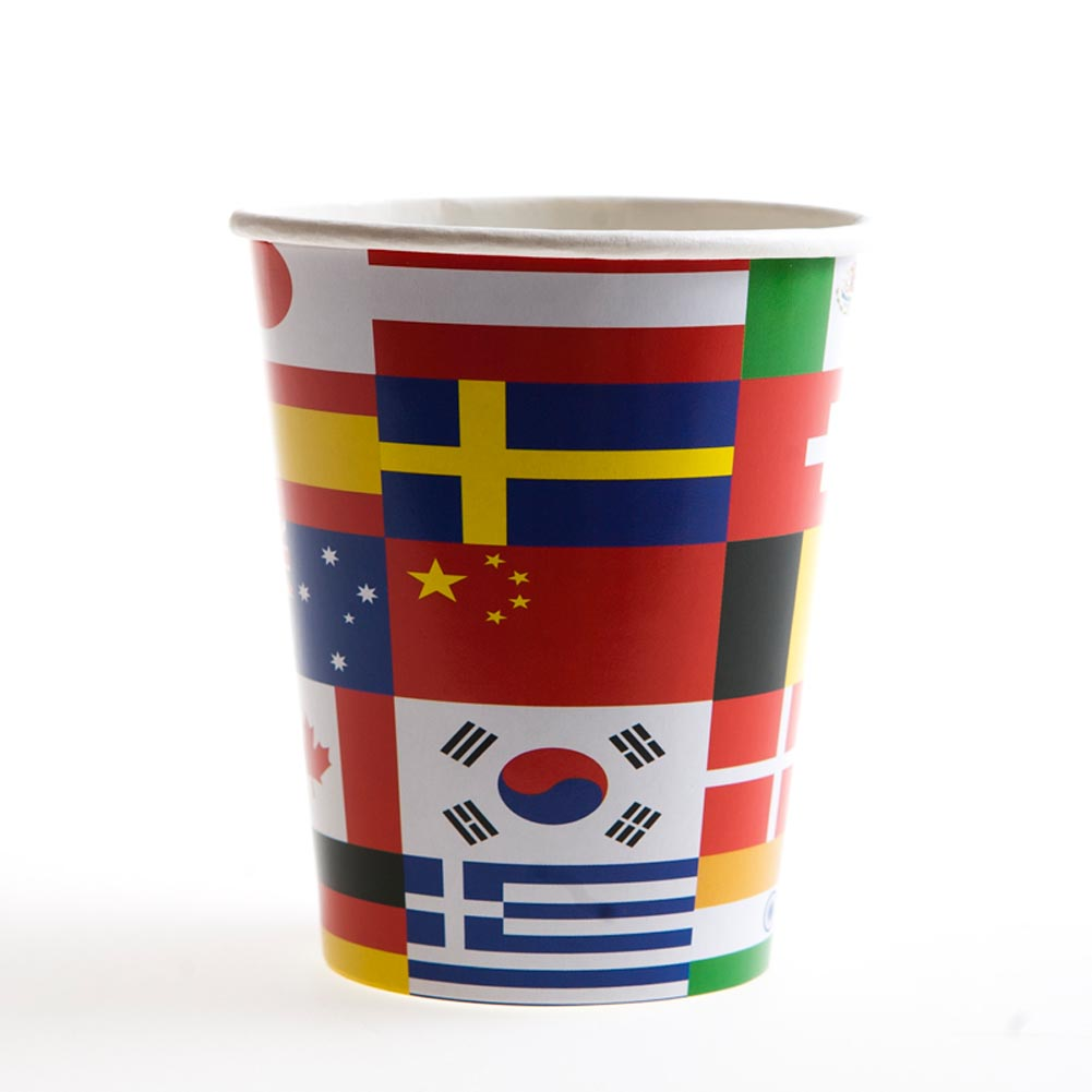 International Flags 9 oz. Cups 014-58222