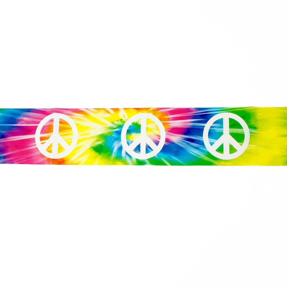 Tie Dye Peace Sign Caution Tape 014-66153