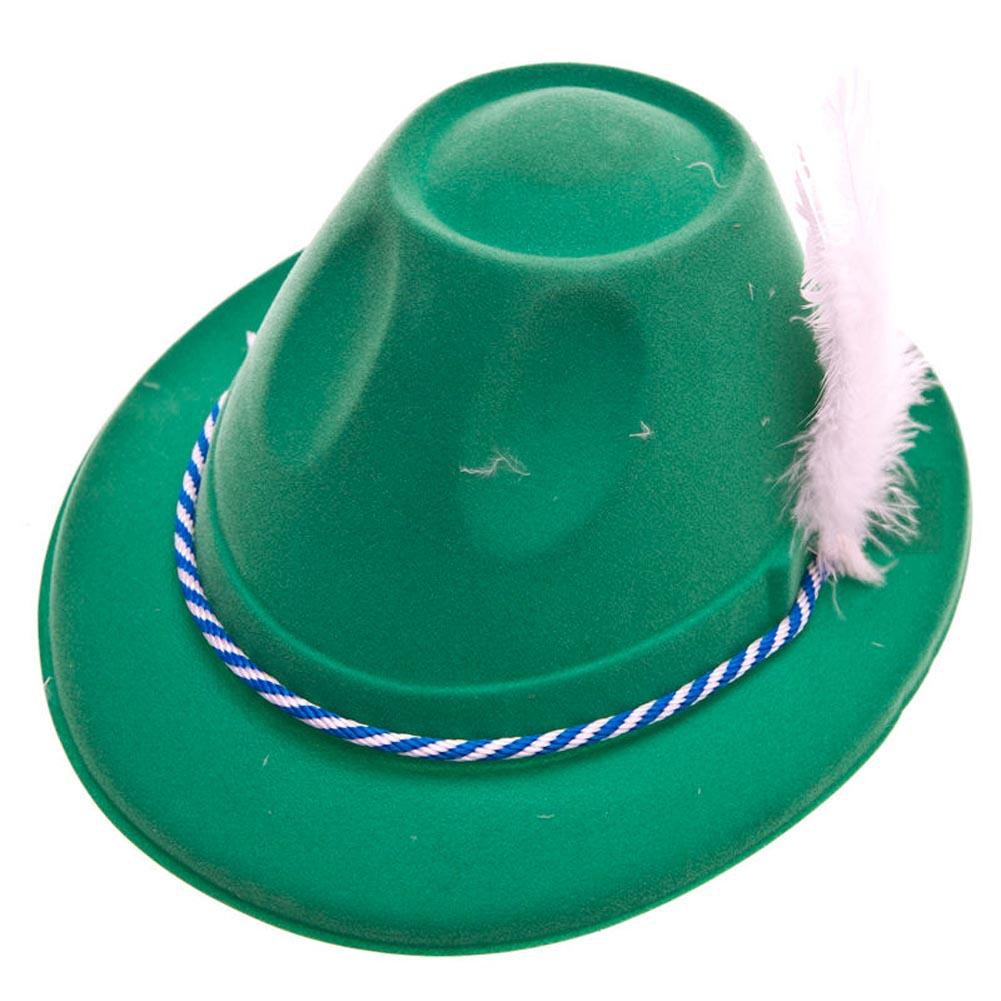 Deluxe Green Velour Oktoberfest Hat 014-66898