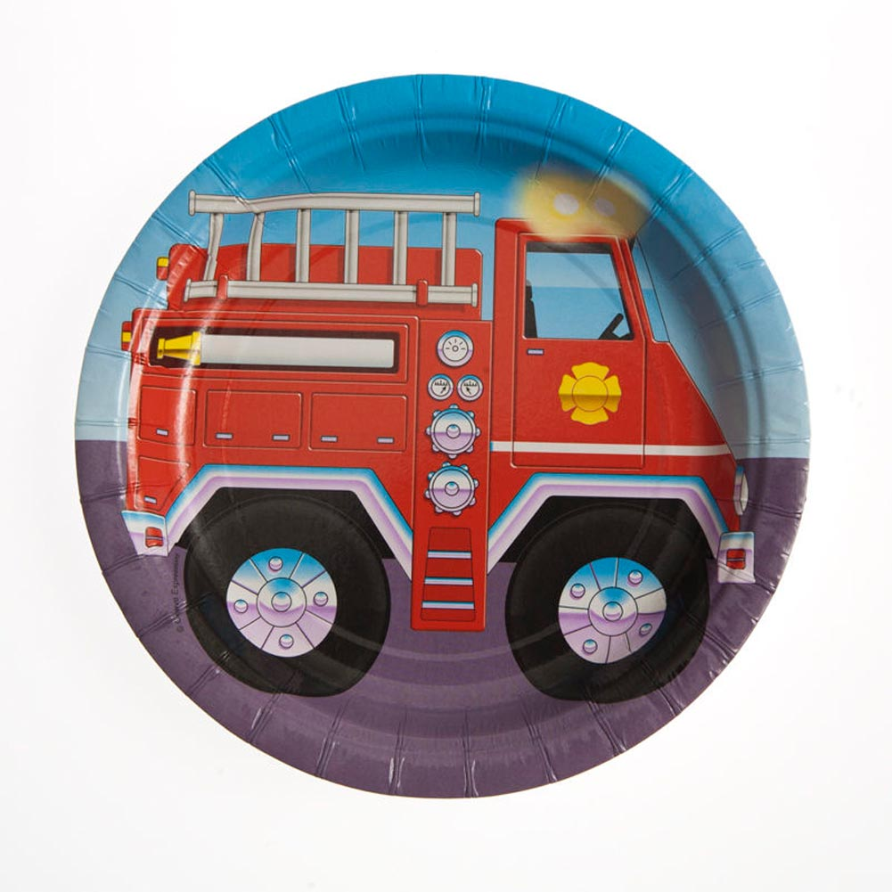 "Firefighter 7"" Plates"