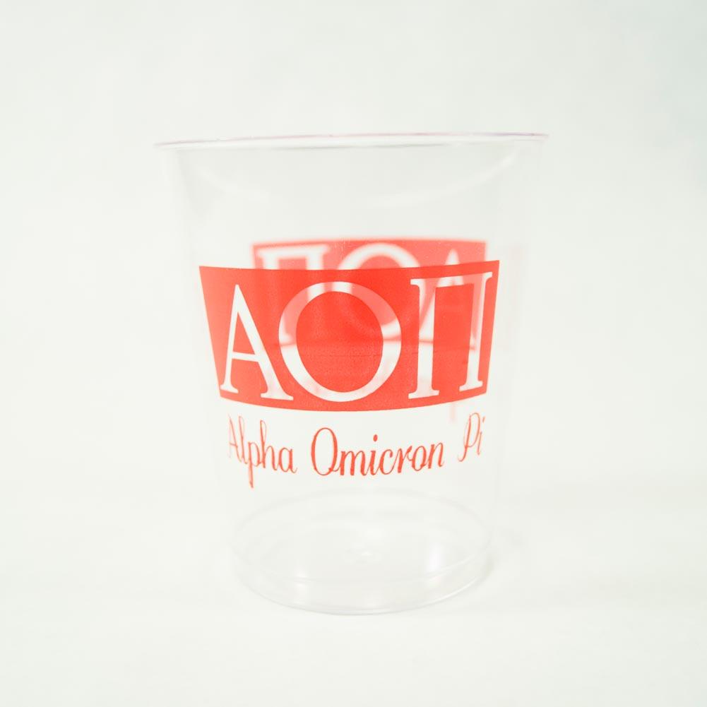 Alpha Omicron Pi 10 oz. Plastic Tumbler Cups 039-275
