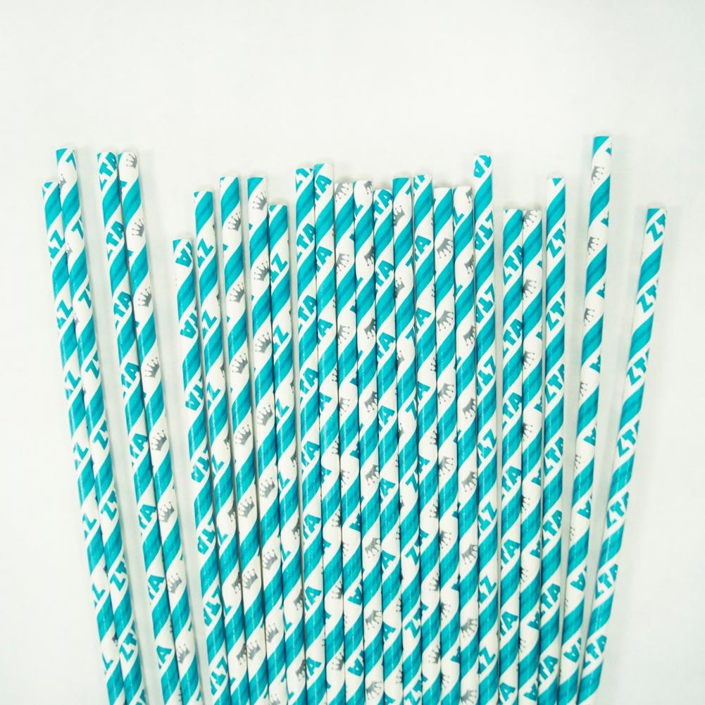 Zeta Tau Alpha Paper Straws