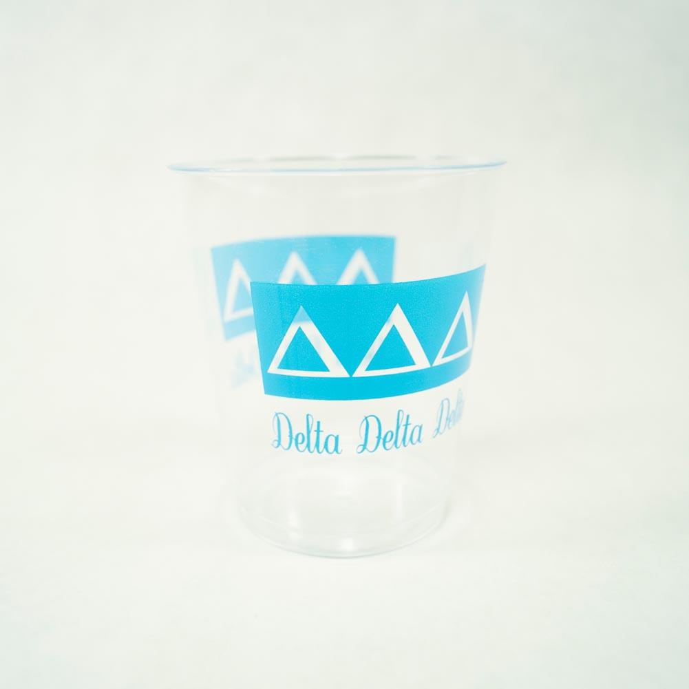 Delta Delta Delta 10 oz. Plastic Tumbler Cups 039-284