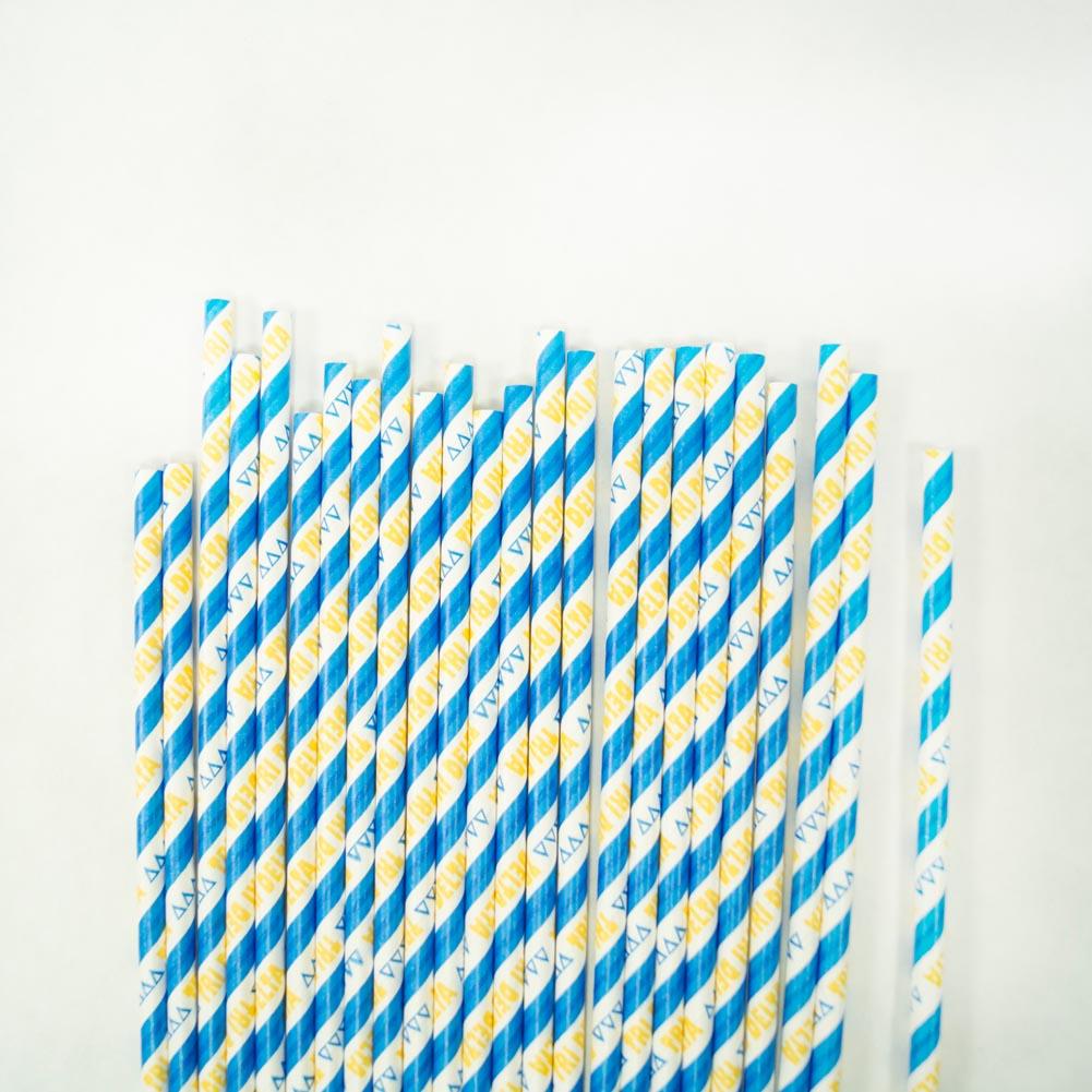 Delta Delta Delta Paper Straws