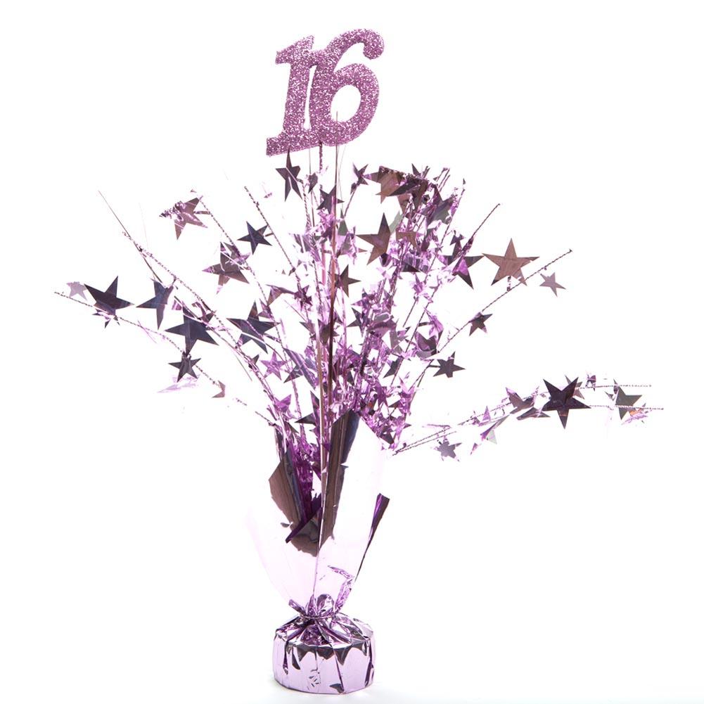 Pink 16 Birthday Centerpieces -pkg/6 070-049