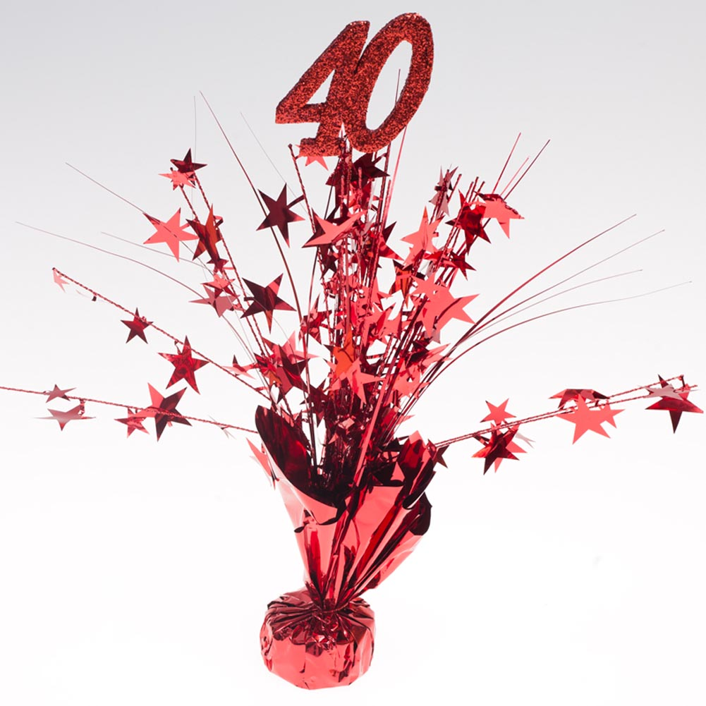 "Ruby Red """"40"""" Centerpieces -pkg/6"" 070-171"