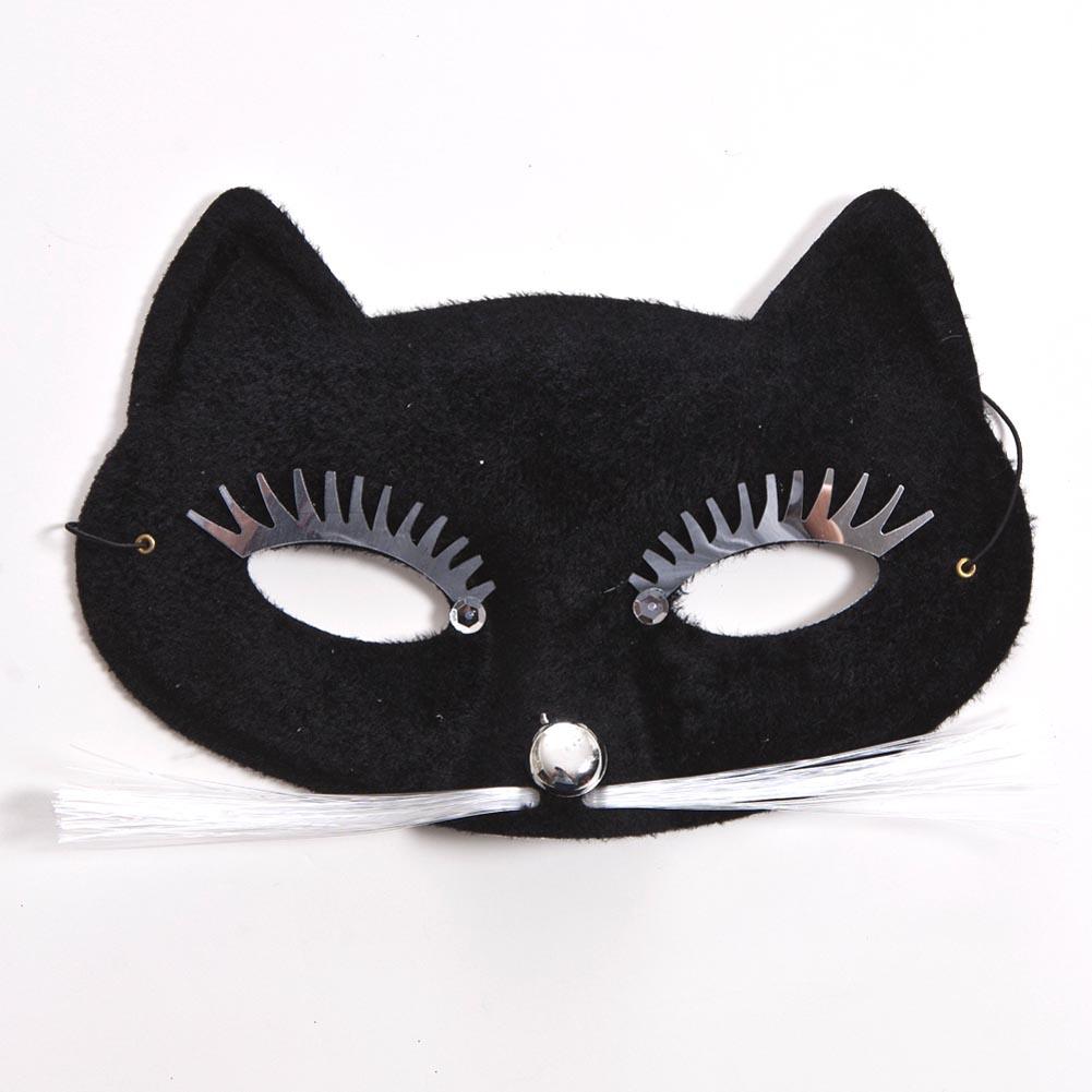 Black Cat Half Mask 085-041