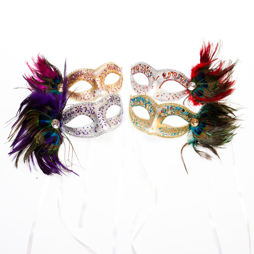 Venetian Half Feather Mask 085-056