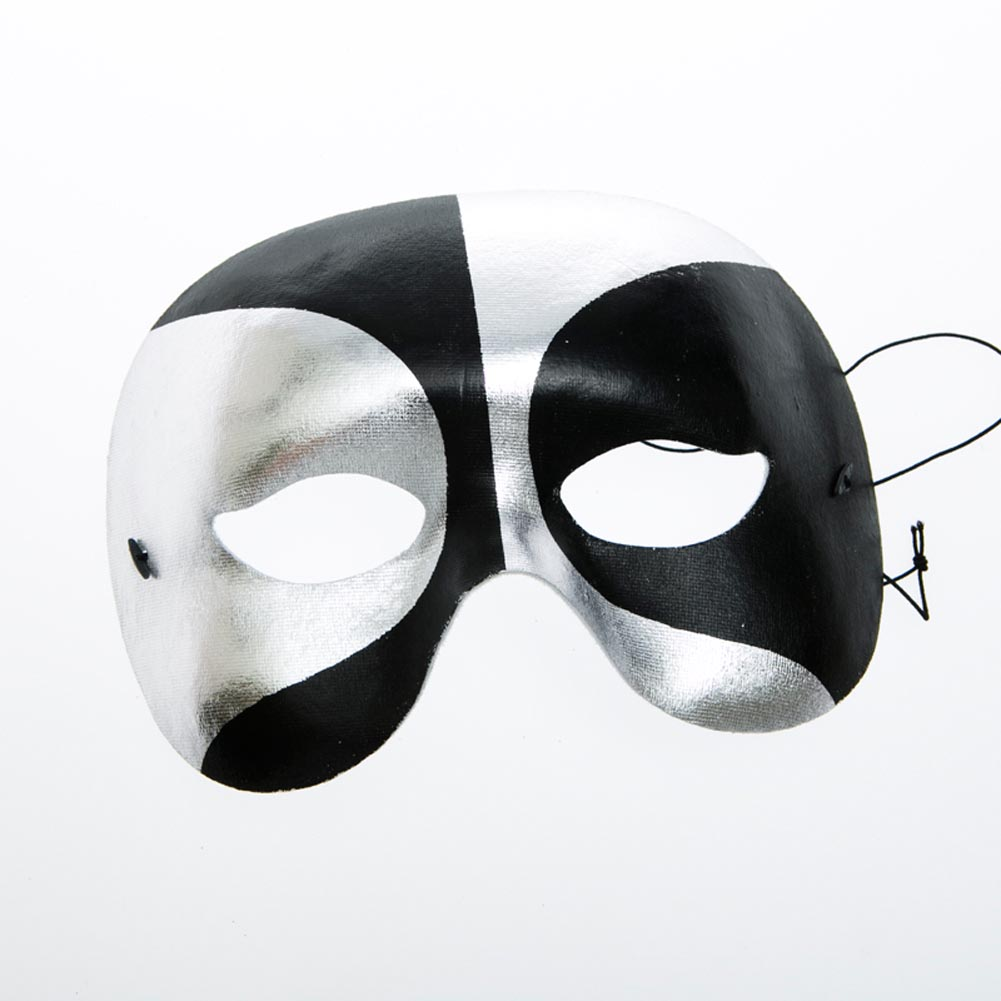 Black and Silver Half Masquerade Mask 085-086