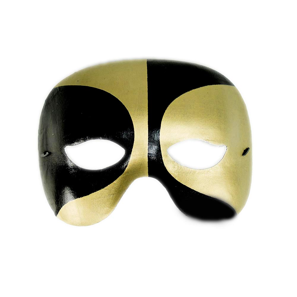 Black and Gold Half Masquerade Mask 085-120