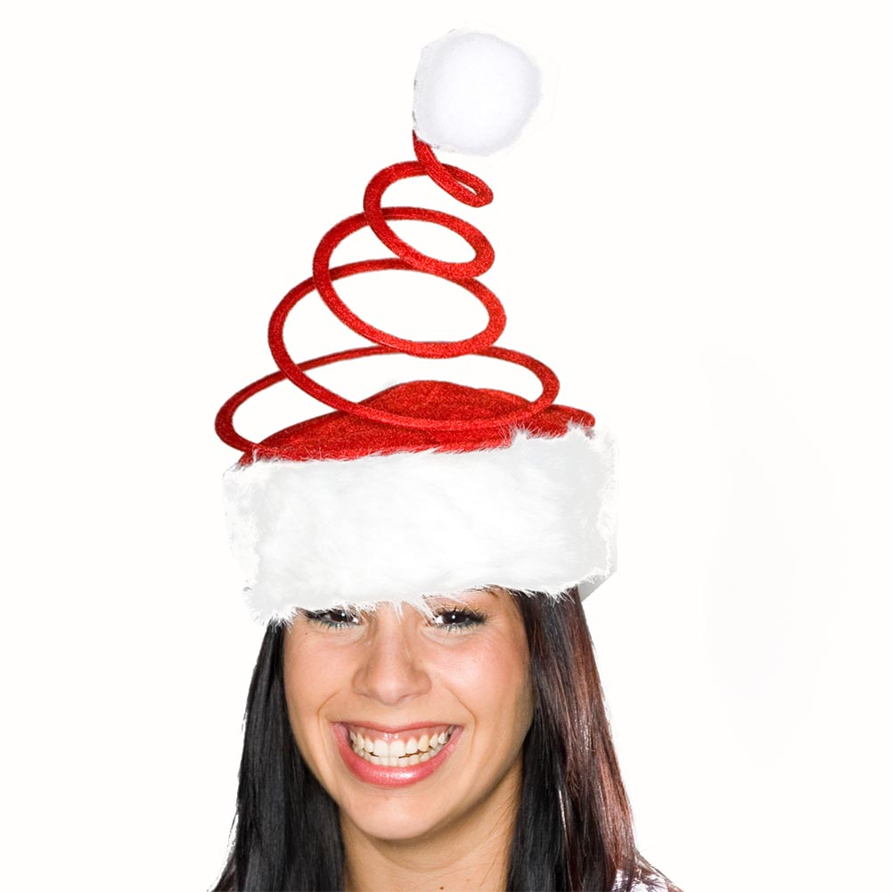 Red Coil Santa Hat 086-044
