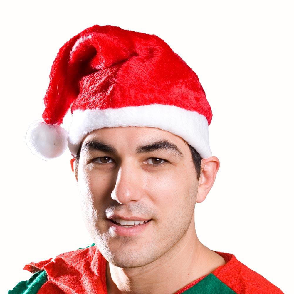Adult Red Plush Santa Hat 086-048