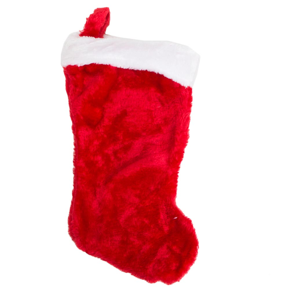 Red Plush Christmas Stocking 086-060