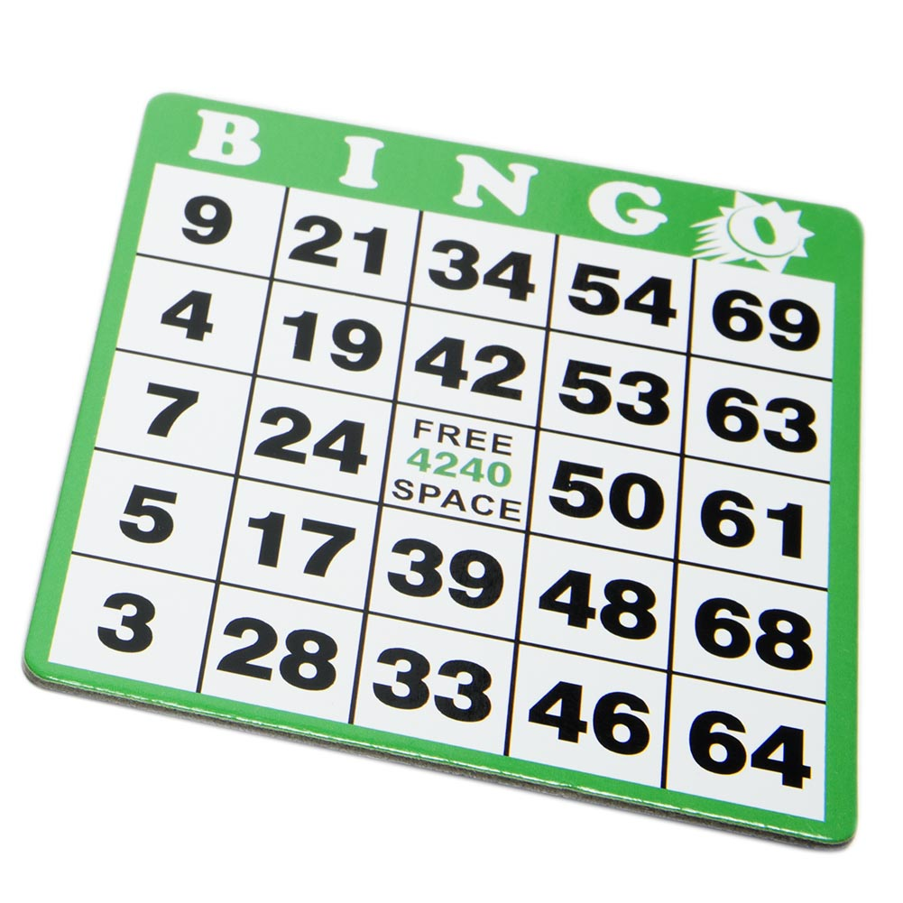 Green Bingo Hard Card 086-287