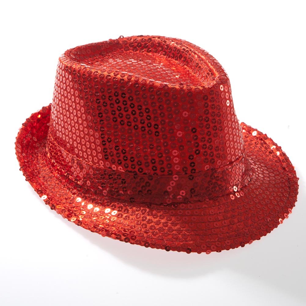 4bce2a25306 Red Sequin Fedora 763285202803