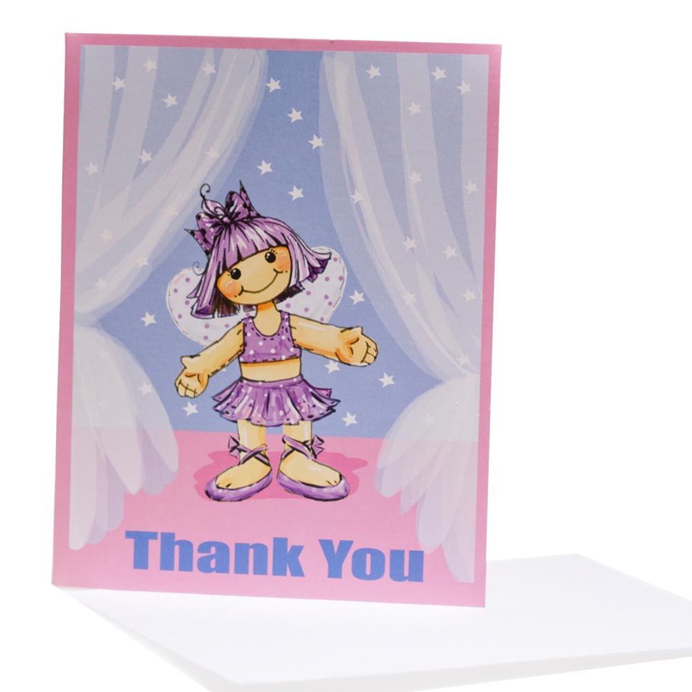 Tiny Dancer Thank You Notes 093-154
