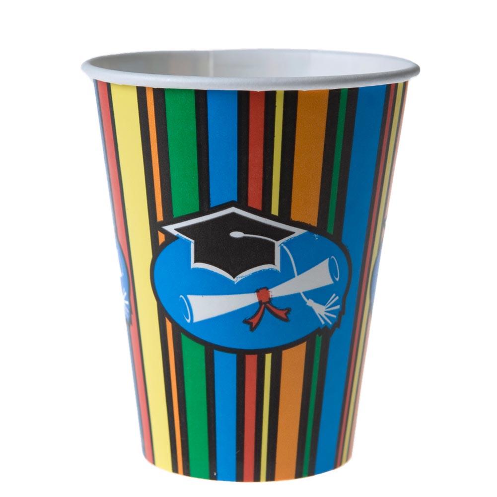 Graduation Stripes 9 oz. Cups 093-300