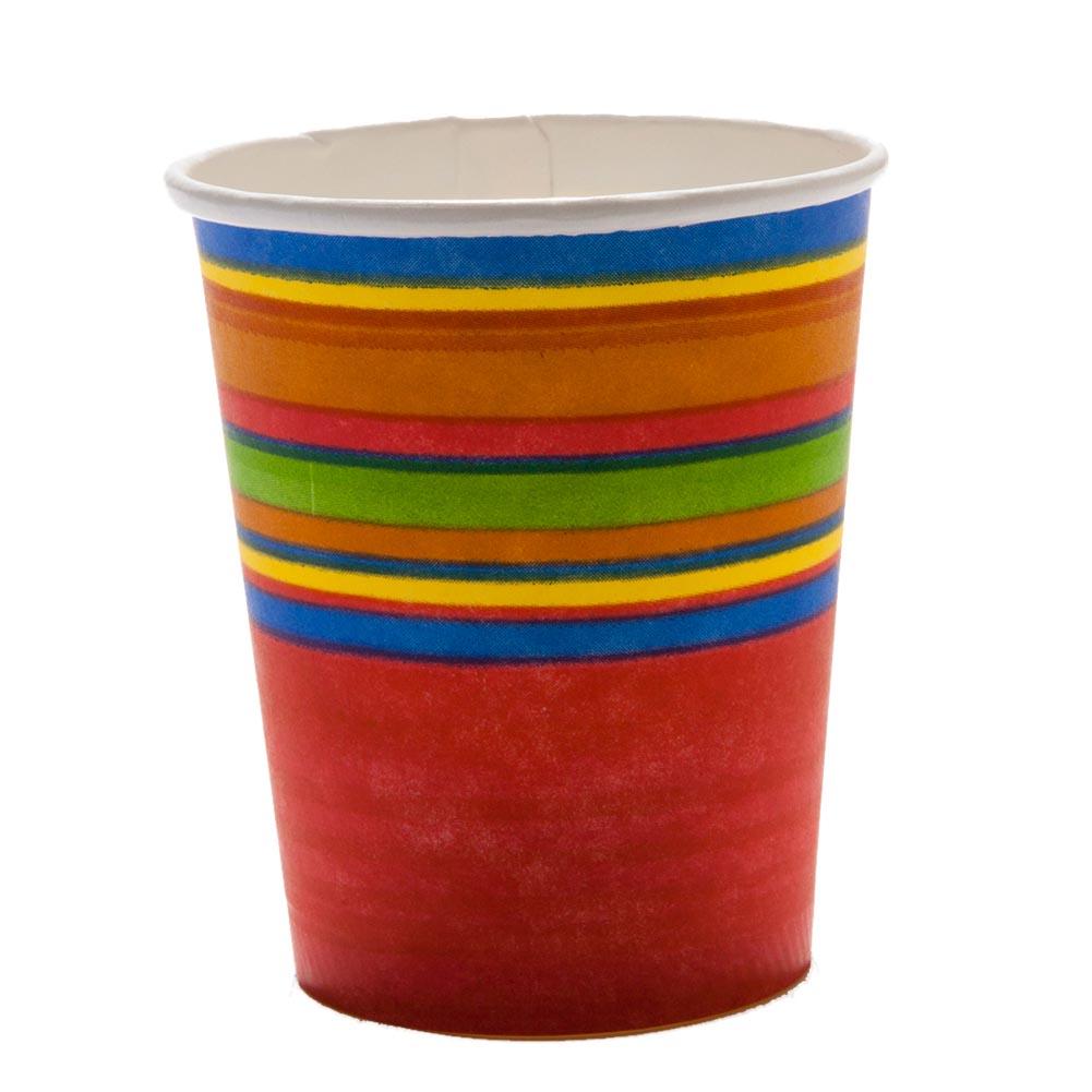 Fiesta Stripes 7 oz. Cups 093-342
