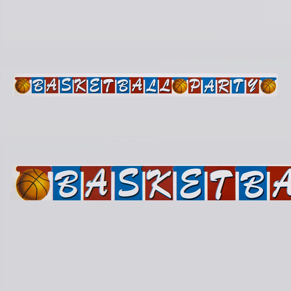 Basketball Party Jointed Banner 093-435