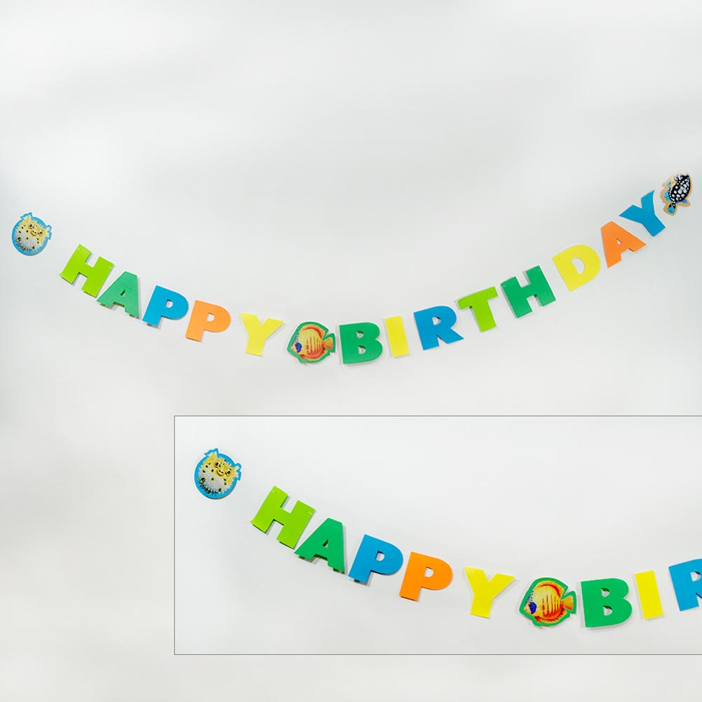 "Ocean Friends """"Happy Birthday"""" Banner"" 093-739"