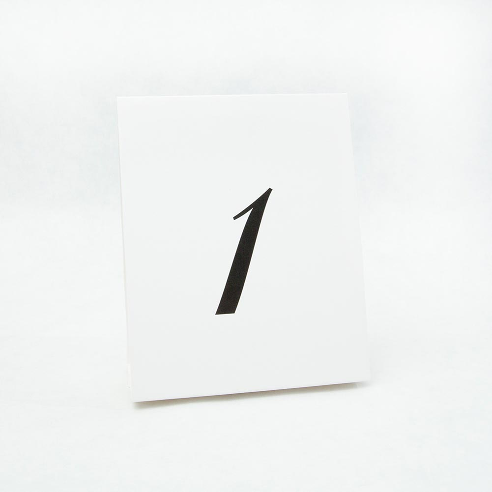 Number Table Place Cards