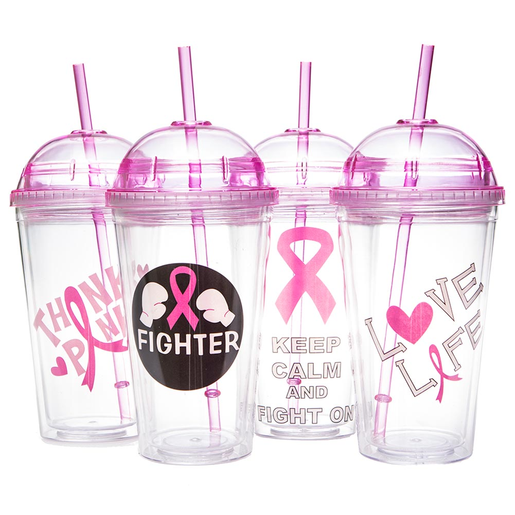 Pink Ribbon 16 oz. Dome Travel Cup 096-032