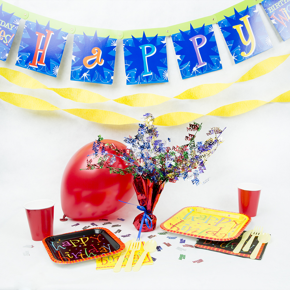 Birthday Decoration & Tableware Party Pack 100-230