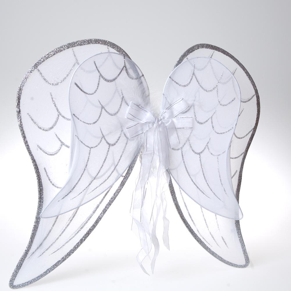 White Glitter Angel Wings 102-029