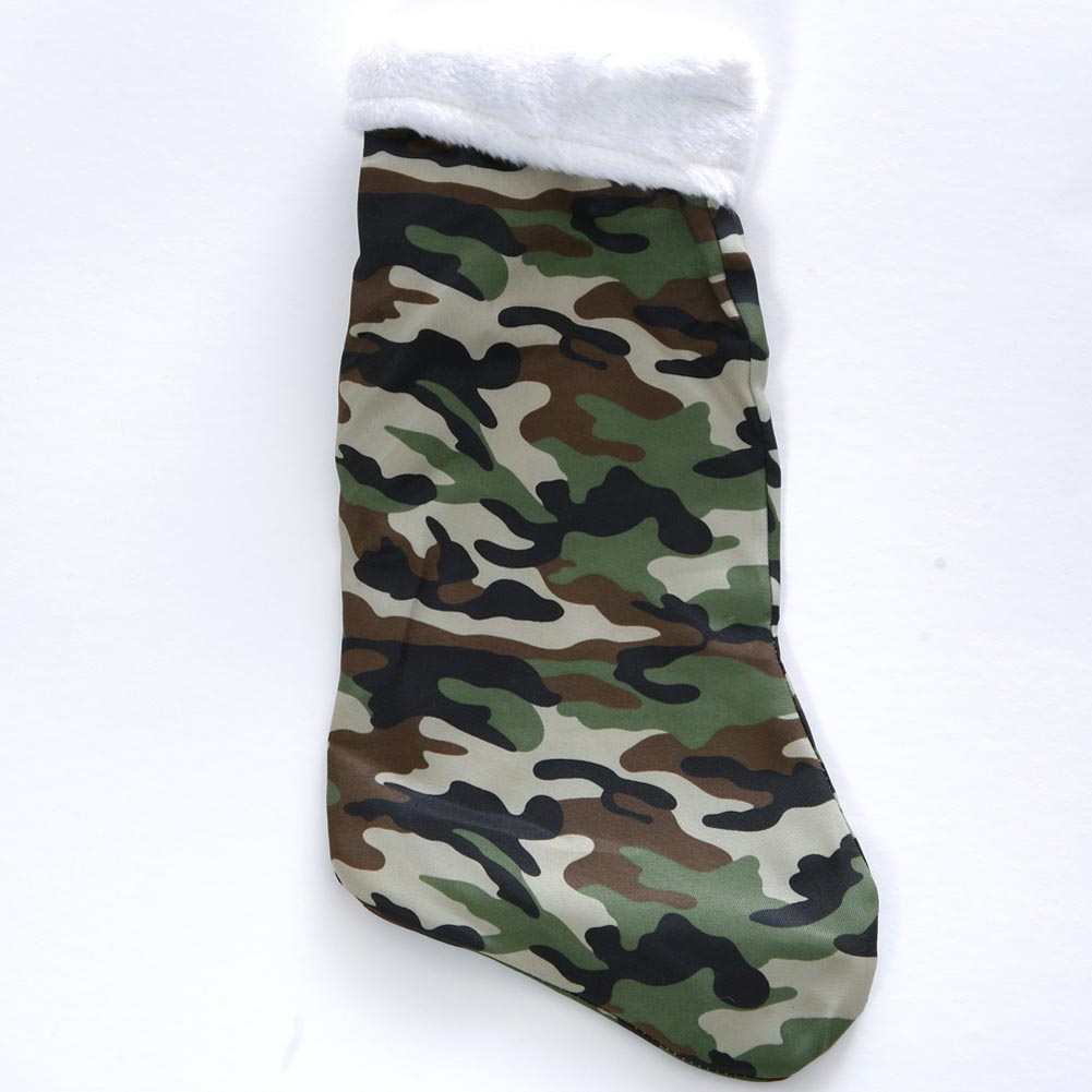 Deluxe Camouflage Christmas Stocking