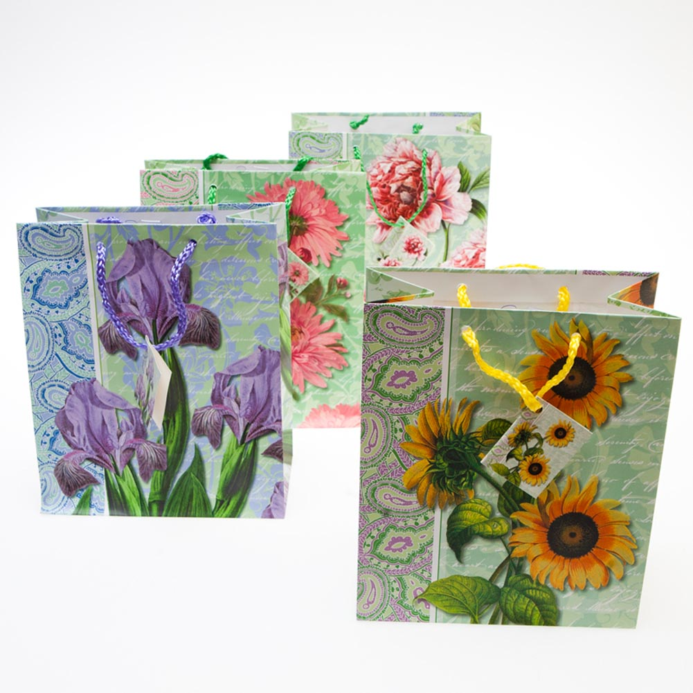 Medium Full Bloom Gift Bags - pkg12