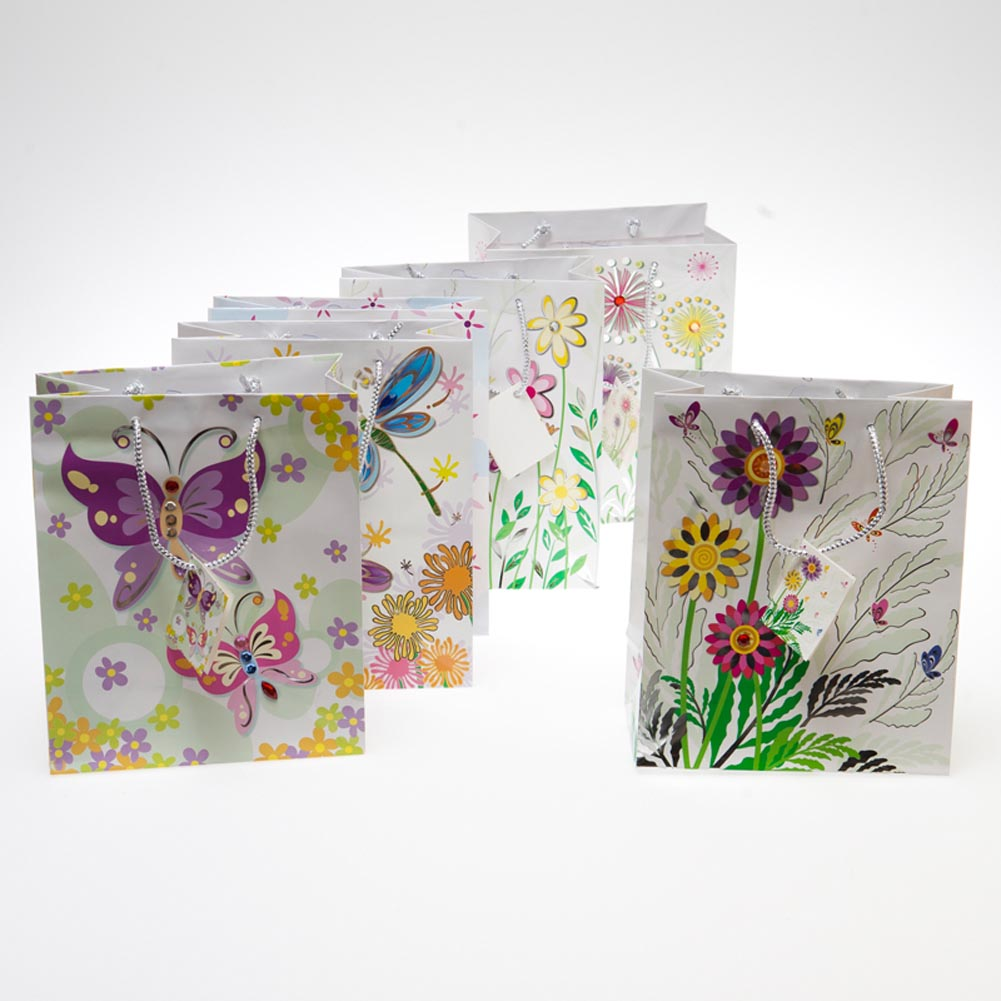 Medium Flowers and Jewels Gift Bags