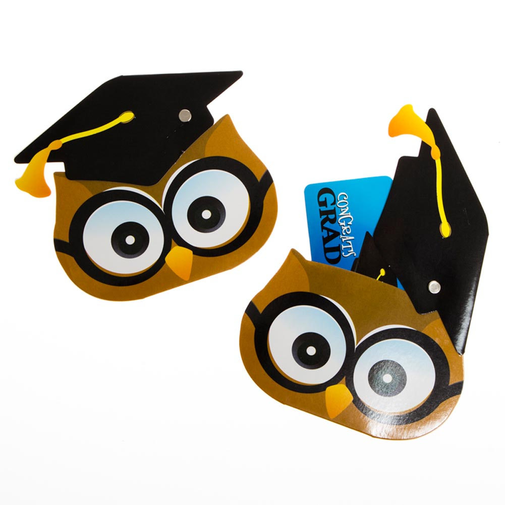 Graduation Owl Gift Card Holders
