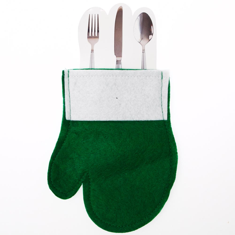 Green Mitten Silverware/Gift Card Holder