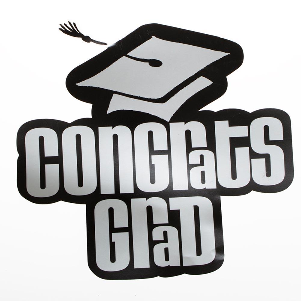Black & Silver Congrats Grad Cutout 112-126