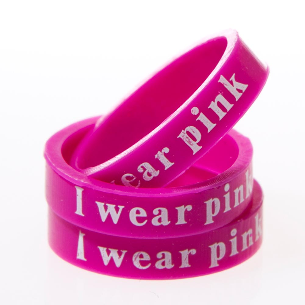 """""""""""I Wear Pink"""""""" Band Rings"""" 112-166"""