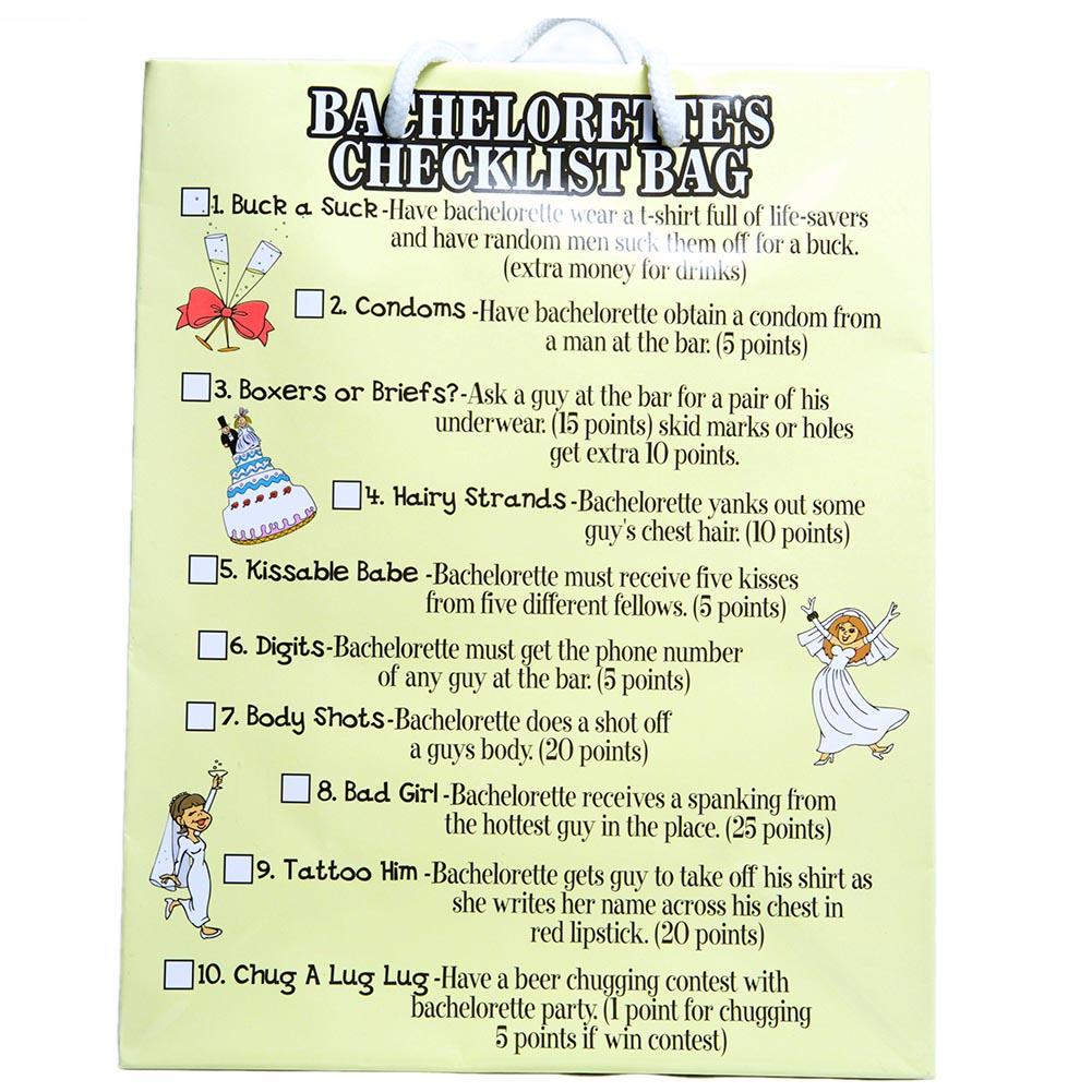 Medium Bachelorette Checklist Gift Bag