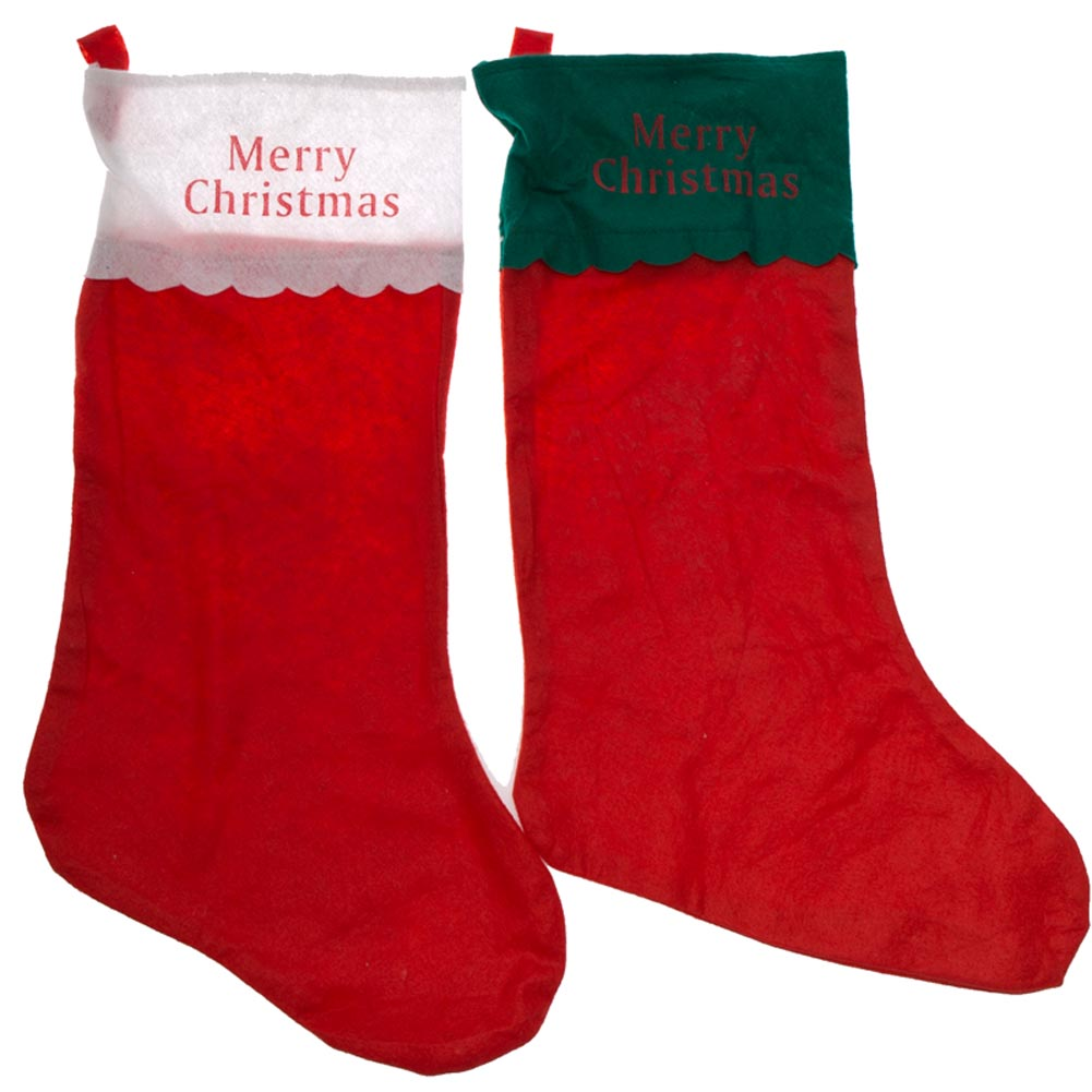 Jumbo Merry Christmas Stocking