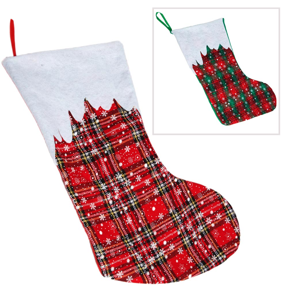 Winter Plaid Christmas Stocking